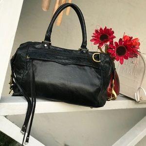 Rebecca Minkoff Black Leather Morning After Bag
